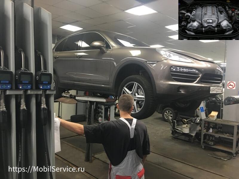 Замена масла в двигателе Porsche в автосервисе Мобил Сервис